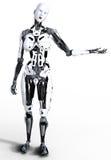 Cyborg femenino del robot Fotos de archivo libres de regalías