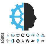 Cyborg Gear Flat Vector Icon With Bonus Stock Images