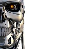 Cyborg głowa odizolowywająca Fotografia Royalty Free
