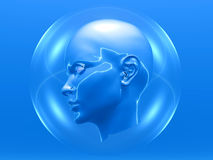 Cyborg head Royalty Free Stock Image