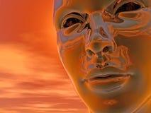 Cyborg head Stock Image