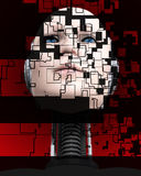 A Cyborg Head 4 Royalty Free Stock Images