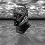 Cyborg head Royalty Free Stock Images