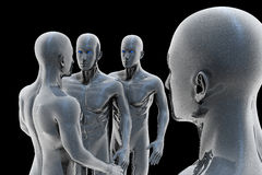Cyborg - homem e máquina - futuro Fotos de Stock Royalty Free