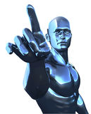 Cyborg Man Stock Photo