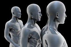 Cyborg - man and machine - future Royalty Free Stock Image