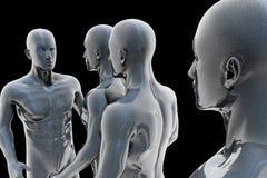 Cyborg - man and machine - future Stock Photography
