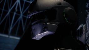 Cyborg maszyna obraca jego kierowniczego przysz?o?ciowa technologia zbiory wideo