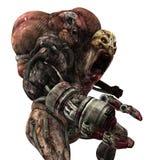 Cyborg monster concept 3d illustration vector illustration