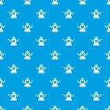 Cyborg op het naadloze blauw van het wielenpatroon royalty-vrije illustratie