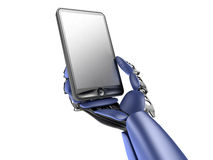 Cyborg with phone Stock Photo