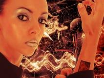 cyborg piękności Zdjęcia Royalty Free