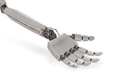Cyborg plastic hand  on white background. 3D rendered illustration Royalty Free Stock Photo