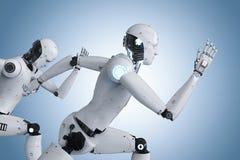 Cyborg que corre rapidamente ilustração do vetor