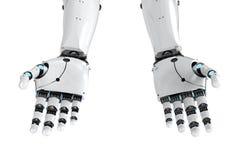Cyborg ręka odizolowywająca Obrazy Royalty Free
