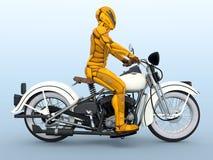 Cyborg rider. 3D CG rendering of a cyborg rider Stock Photos