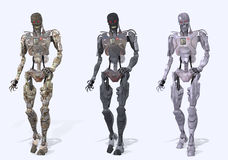 Cyborg robot figures Royalty Free Stock Images