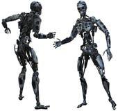 Cyborg, robot, mal, peligro, aislado libre illustration