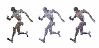 Cyborg or robot running Royalty Free Stock Photo