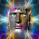 Cyborg's head Royalty Free Stock Photos
