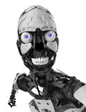Cyborg skull face portrait Stock Images