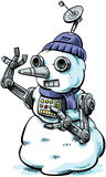 Cyborg Snowman Royalty Free Stock Photography