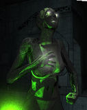 Cyborg soldier. High detail 3d render of cyborg soldier Royalty Free Stock Photo