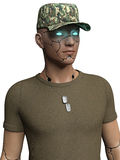 Cyborg soldier Royalty Free Stock Photography