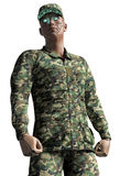 Cyborg soldier Royalty Free Stock Images