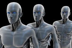 Cyborg - uomo e macchina - futuro illustrazione di stock