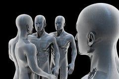 Cyborg - uomo e macchina - futuro Fotografie Stock Libere da Diritti