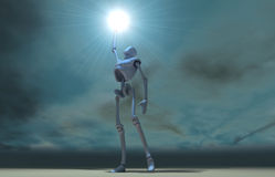 Cyborg wallpaper Royalty Free Stock Images