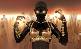 Cyborg warrior Royalty Free Stock Images