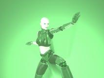 Cyborg woman. 3d render of woman cyborg Stock Photo