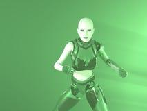 Cyborg woman. 3d render of woman cyborg Royalty Free Stock Image