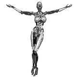 Cyborg woman Royalty Free Stock Photography