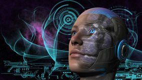 Cyborg Woman - Humanoid Stock Images