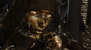 Cyborg woman. Portrait of a cyborg woman Stock Photo