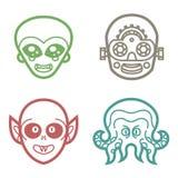 Cyborg y monstruos extraterrestres del vampiro Imágenes de archivo libres de regalías