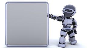 cyborga śliczny robot ilustracja wektor