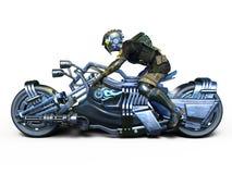 Cyborga jeździec Fotografia Stock
