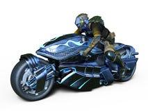 Cyborga jeździec Zdjęcia Royalty Free
