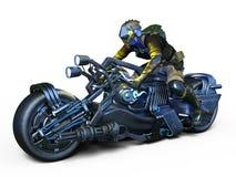 Cyborga jeździec Zdjęcie Royalty Free