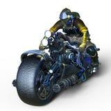 Cyborga jeździec Obraz Royalty Free