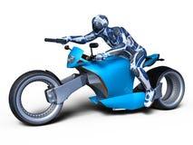 Cyborga jeździec Obrazy Royalty Free