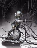 Cyborga model obrazy royalty free