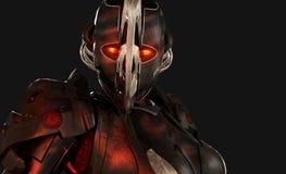 cyborga postępowy żołnierz Zdjęcia Stock