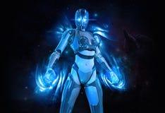 Cyborgfrau Stockbild