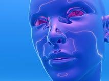 cyborghuvud Arkivfoto