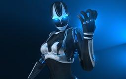Cyborgkvinnlig Royaltyfria Foton